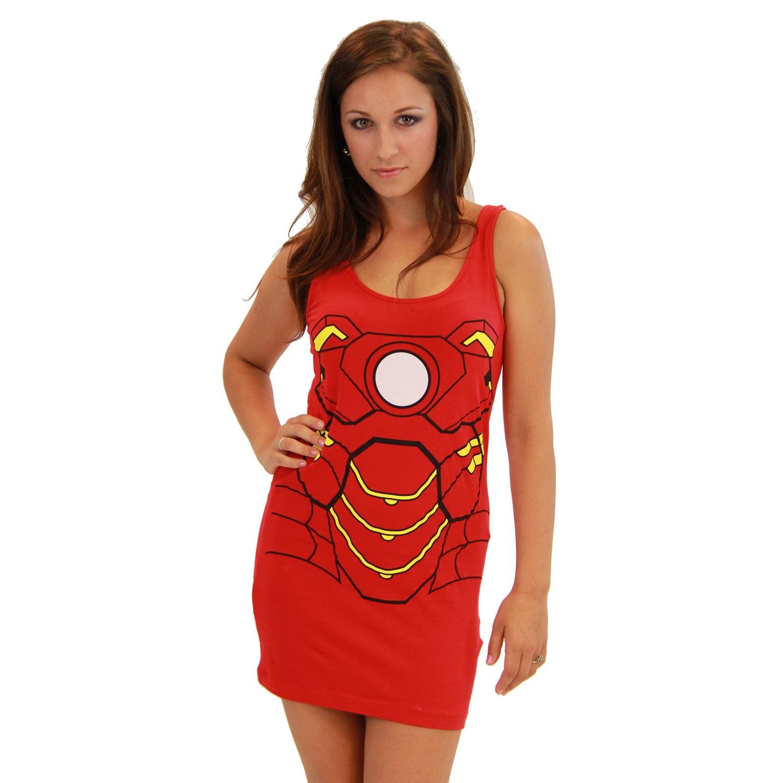 Women's Iron Man Cotton/Spandex Tank Dress