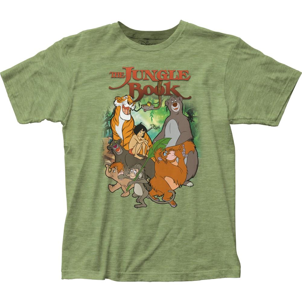 The Jungle Book Cover Men's Green T-Shirt