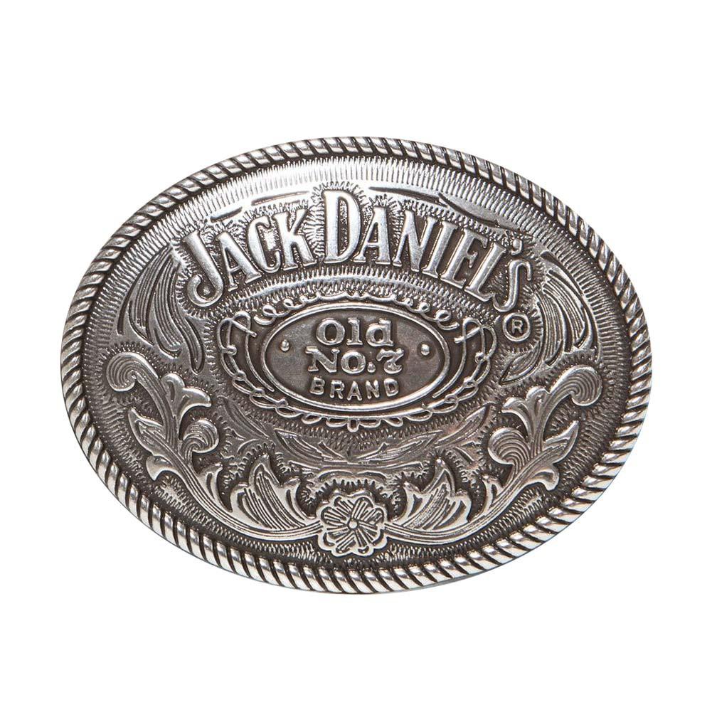Jack Daniels Silver Oval Belt Buckle