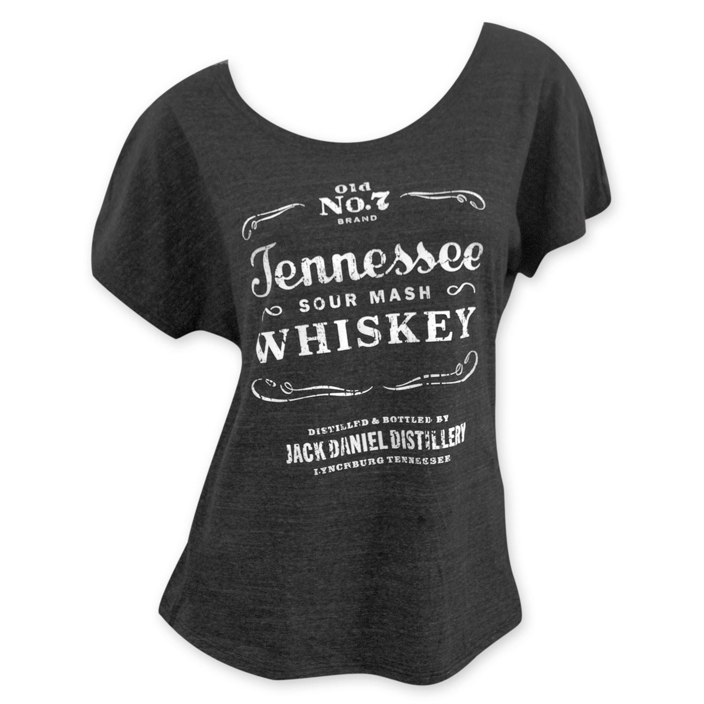 Jack Daniels Loose Fit Women's Grey Sourmash Whiskey T-Shirt