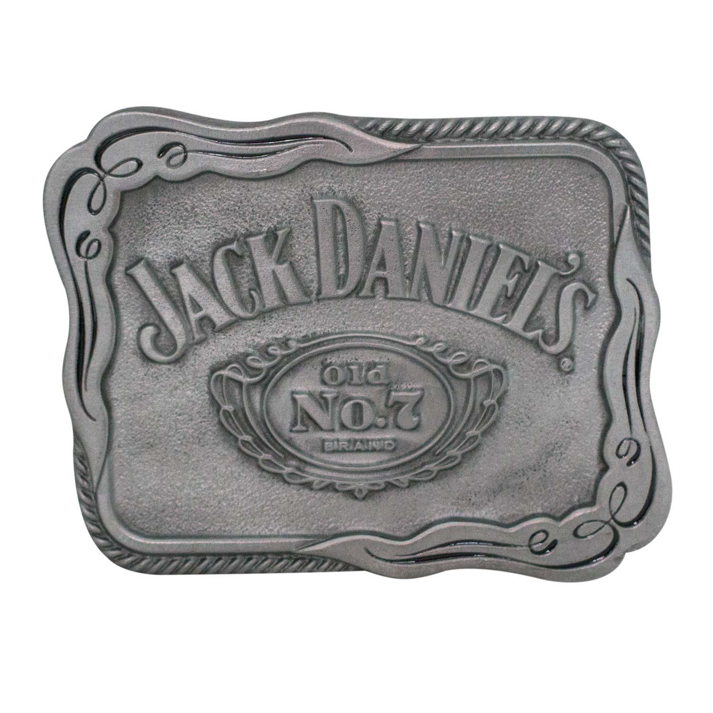 Jack Daniels Silver Scroll Belt Buckle