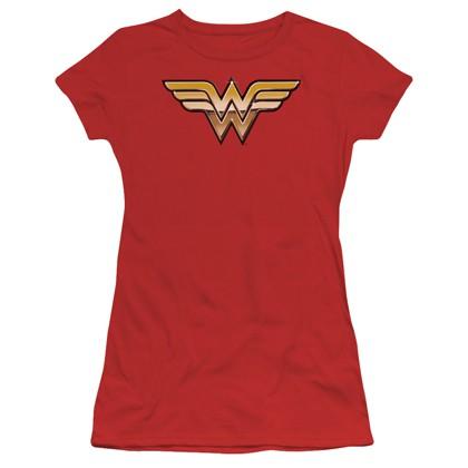 Wonder Woman 3D Logo Women's Tshirt