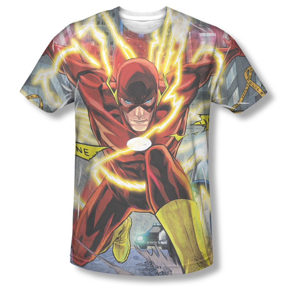 The Flash Police Line Sublimation T-Shirt