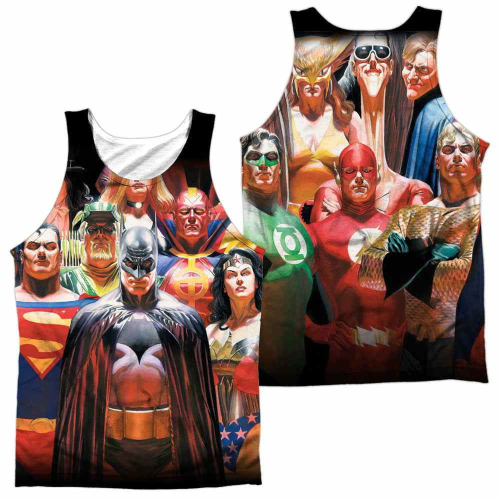 Justice League Wall Of Heroes Sublimation Tank Top