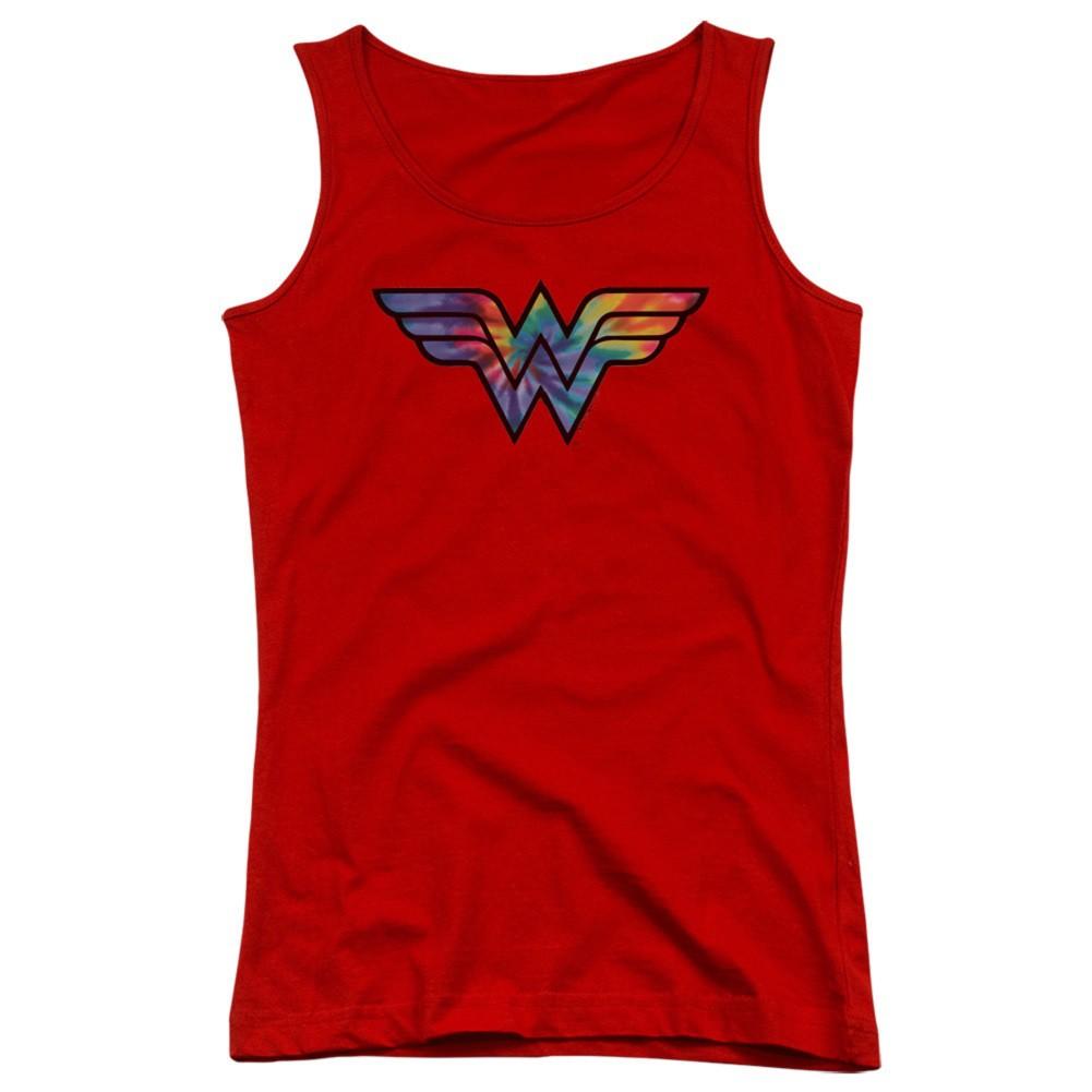 Wonder Woman Tie Dye Logo Women's Tank Top