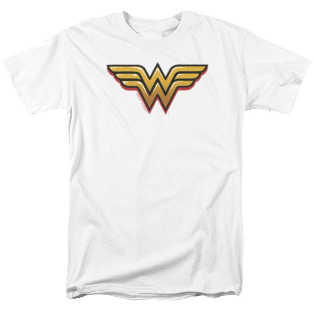 Wonder Woman Airbrushed Logo White Tshirt