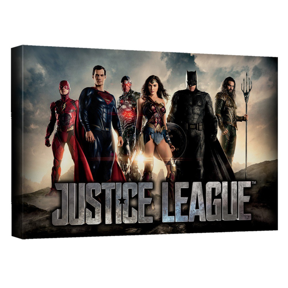 Justice League Logo 16x20 Canvas Print