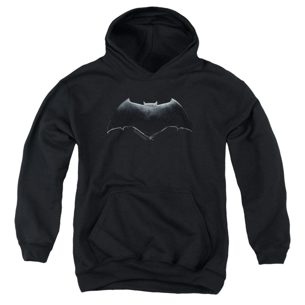 Justice League Batman Logo Youth Black Hoodie