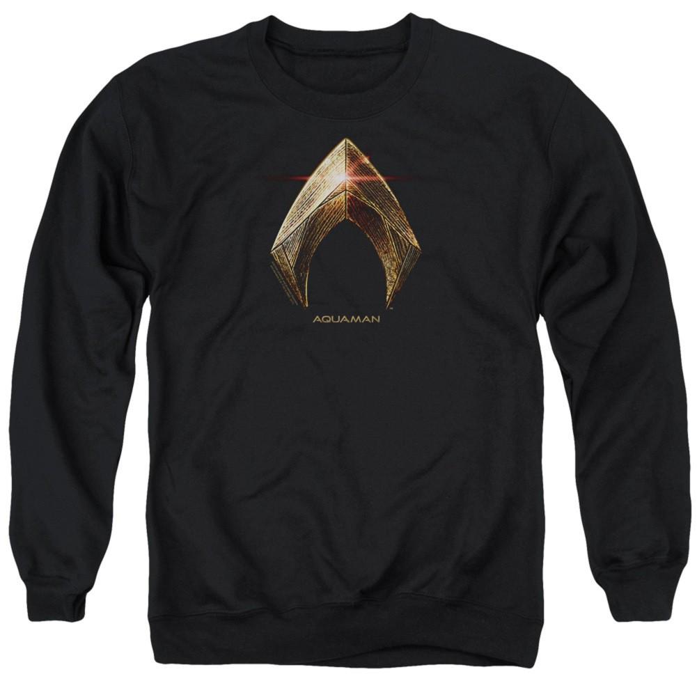 Aquaman Logo Justice League Crewneck Sweatshirt