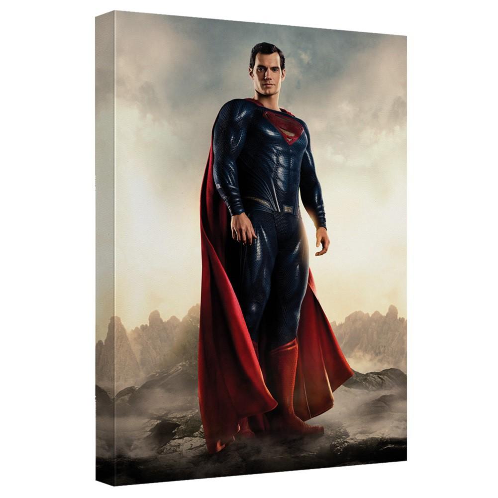 Justice League Superman 16x20 Canvas Print