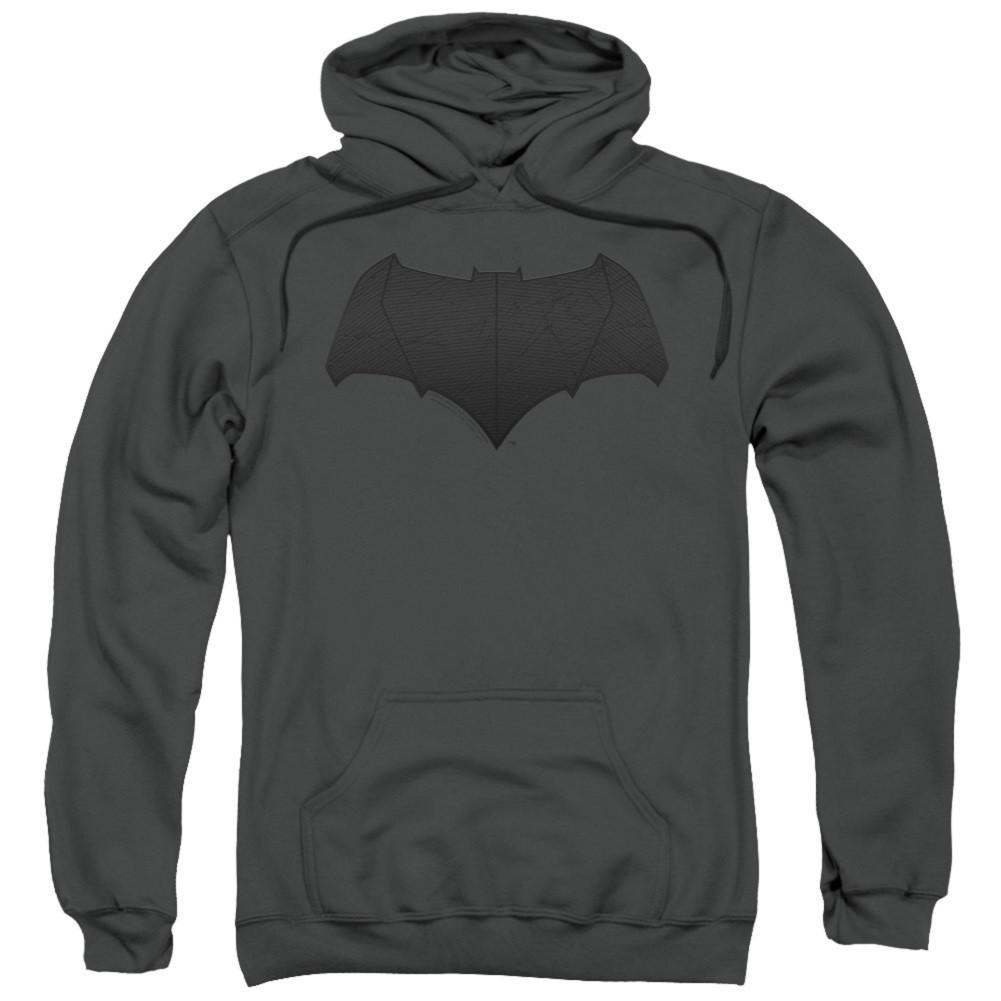 Justice League Batman Logo Grey Hoodie