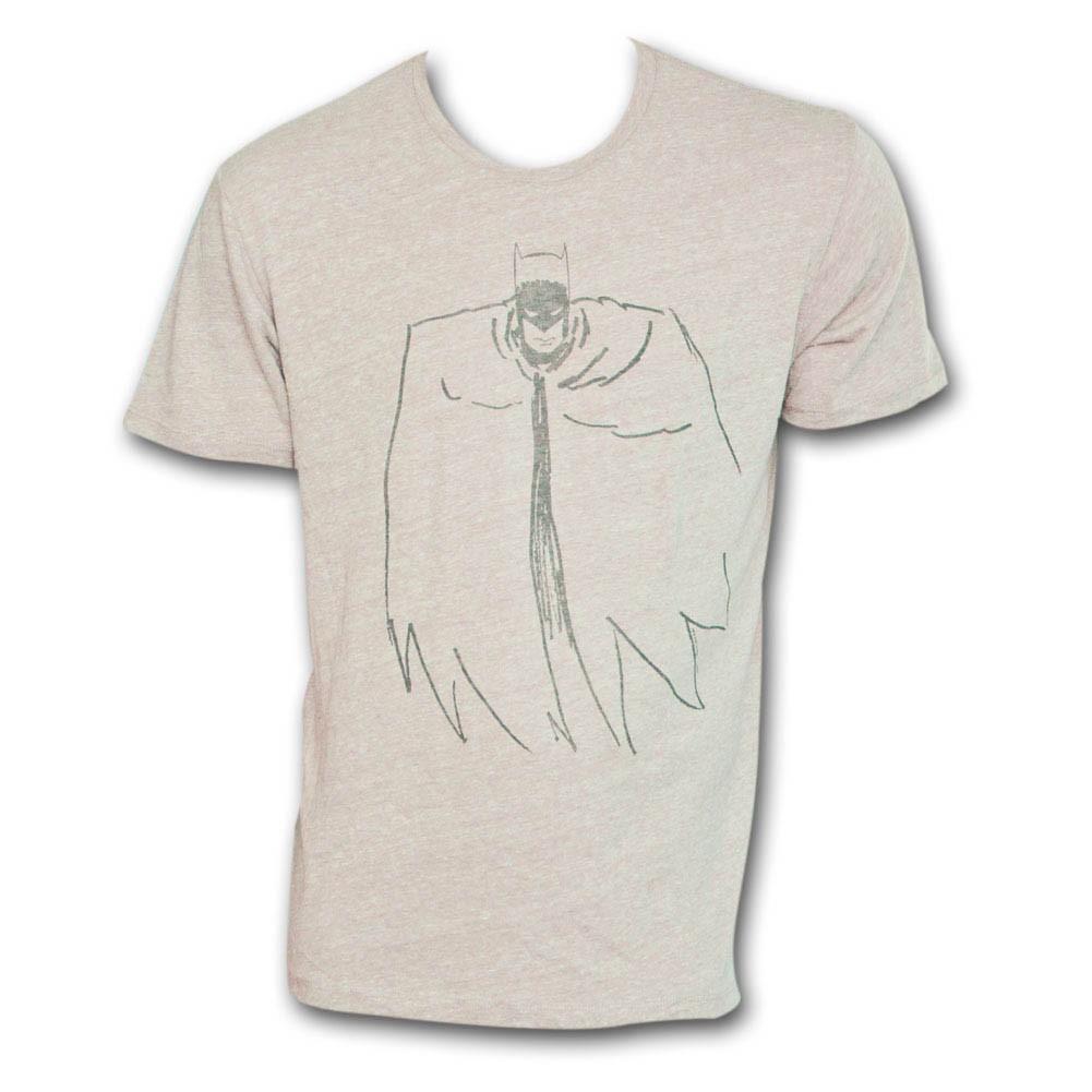Batman Outline T-Shirt - Chestnut