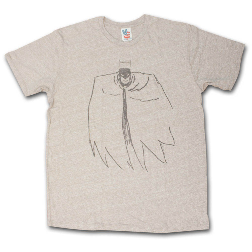Batman Outline T-Shirt - Chestnut