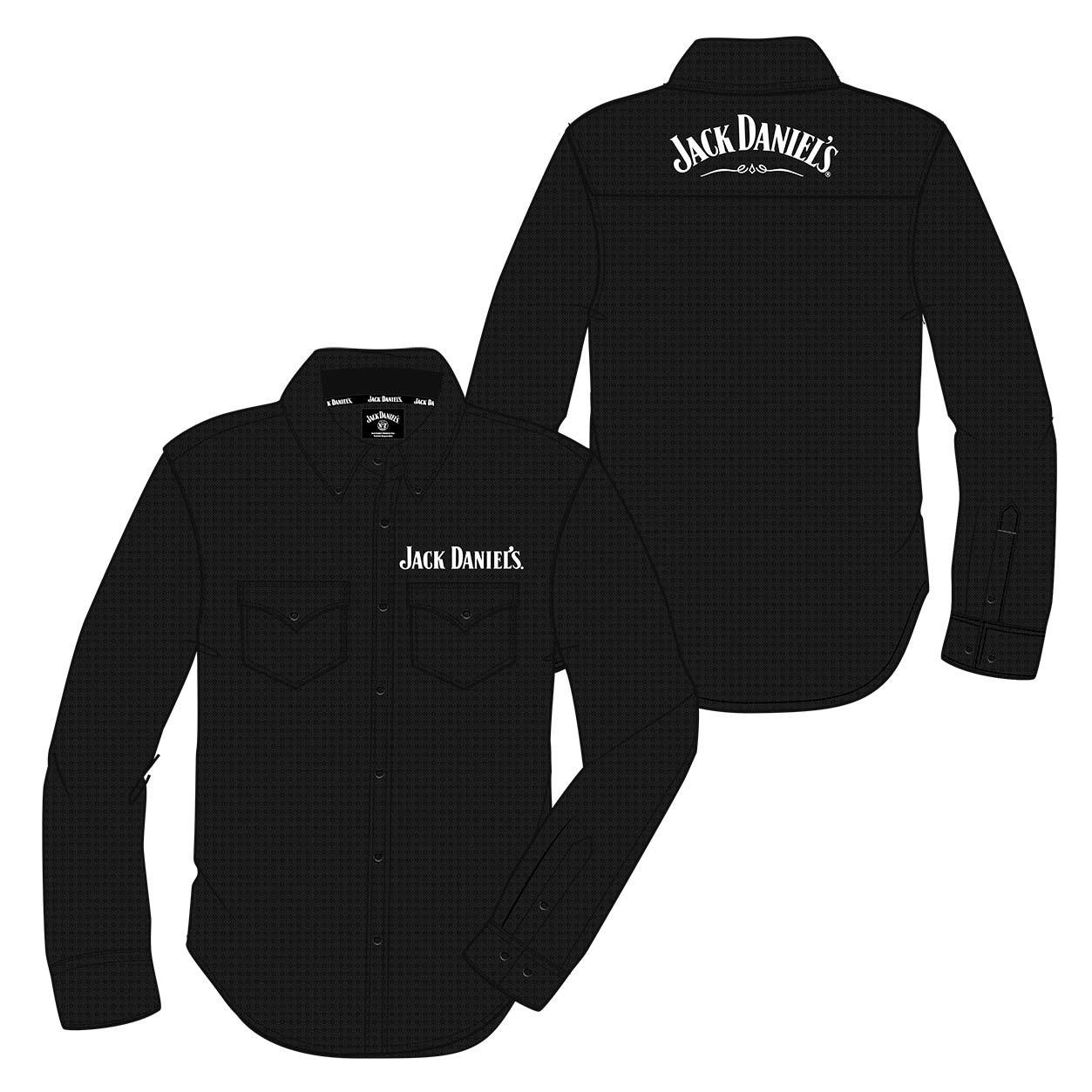 Jack Daniels Long Sleeve Button Up Paisley Shirt