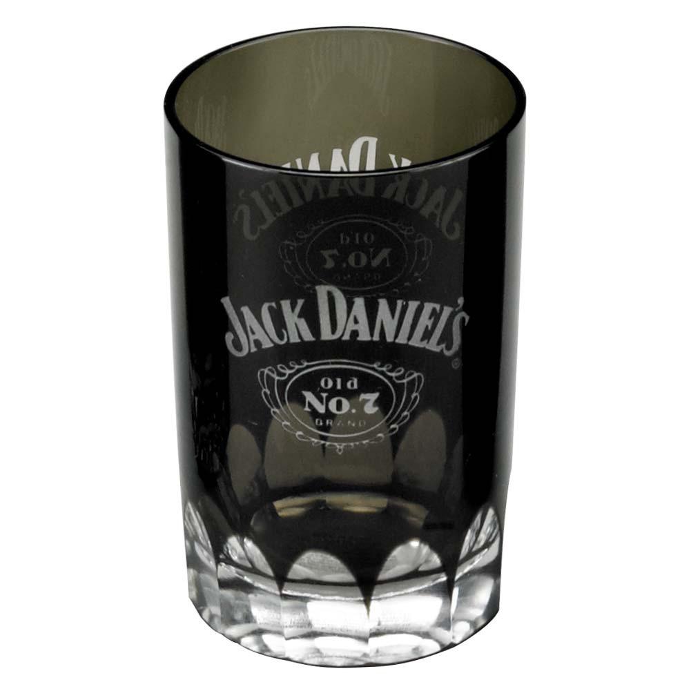 Jack Daniels Black Faceted Shot Glass
