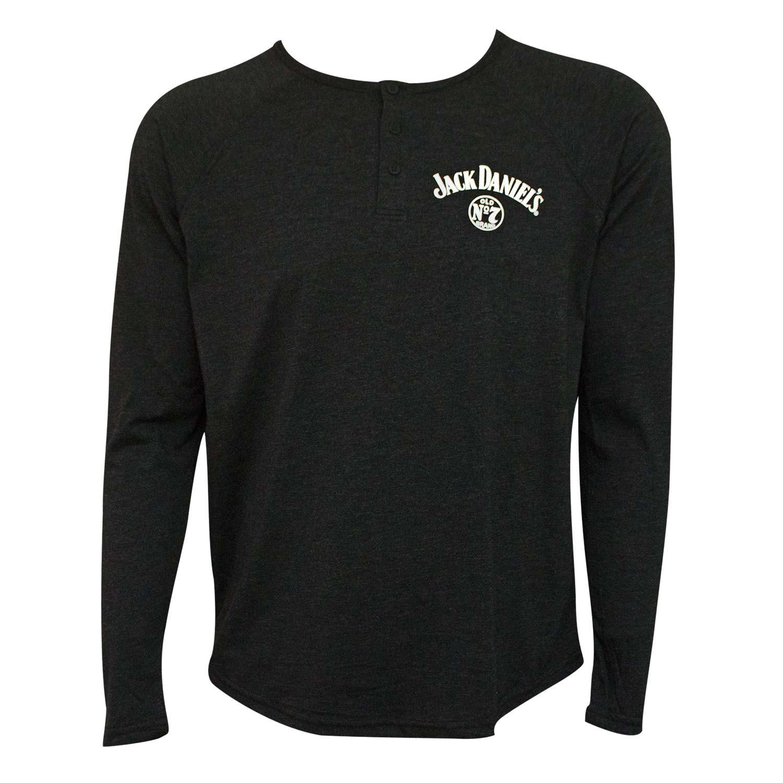 Jack Daniel's Long Sleeve Henley Men's T-Shirt
