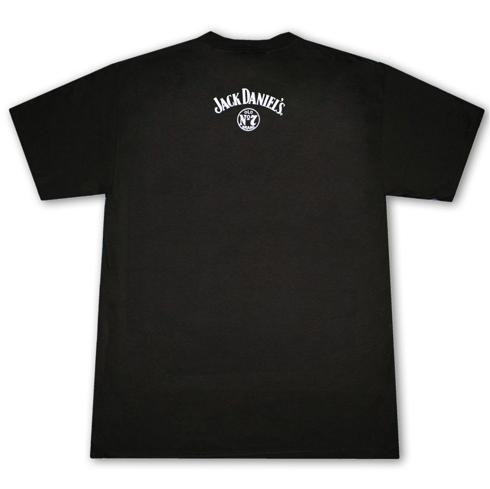 Jack Daniel's Whiskey Lives Here Black Graphic T Shirt