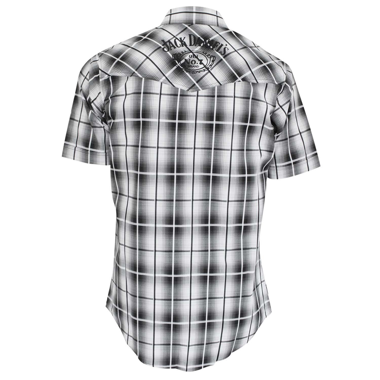 Jack Daniels Short Sleeve Button Down Plaid Shirt