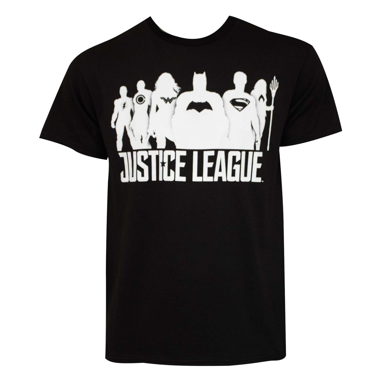 Justice League Silhouettes Black T-Shirt