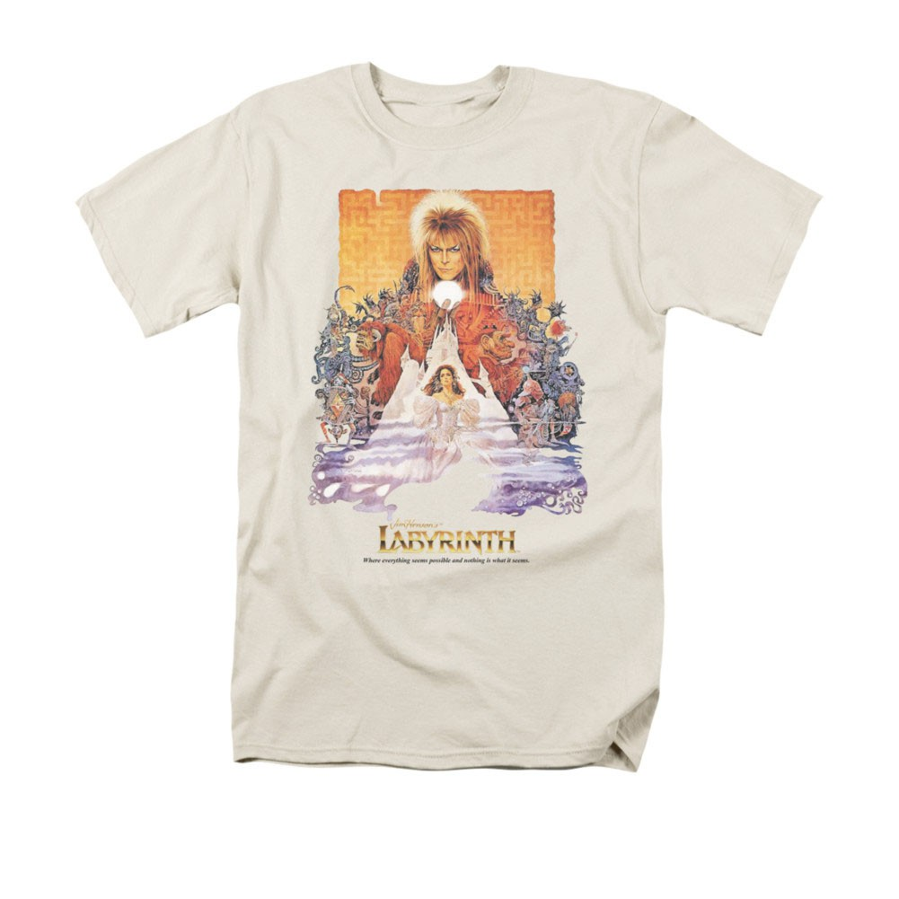 Labyrinth Movie Poster Cream T-Shirt