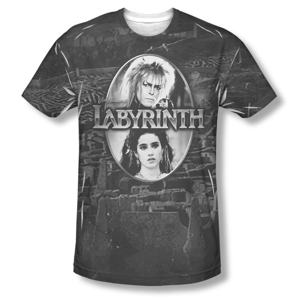 Labyrinth Maze Black Sublimation T-Shirt
