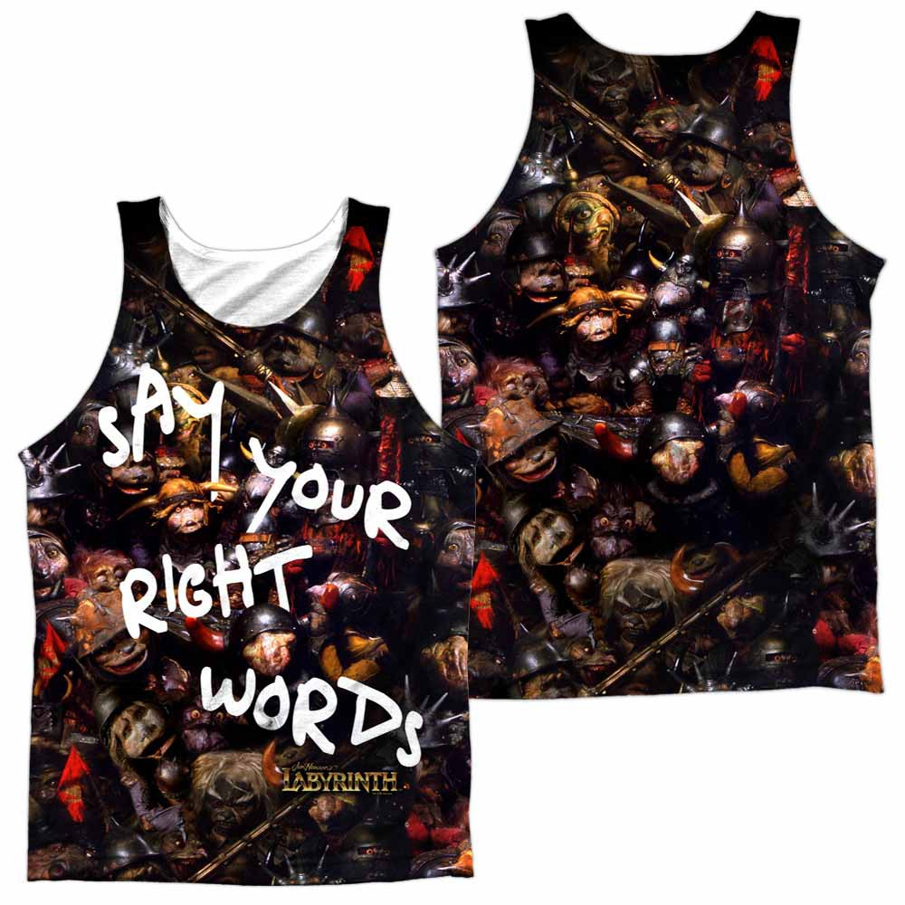 Labyrinth Right Words Sublimation Tank Top