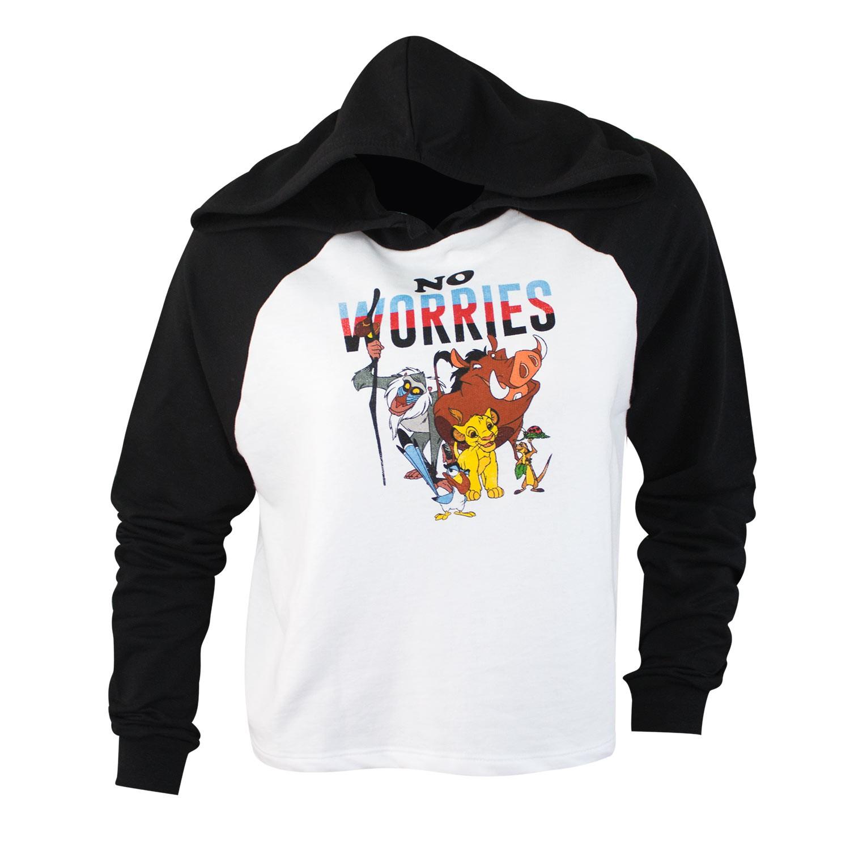 0524b509 Lion King Women's No Worries Crop Top Hoodie