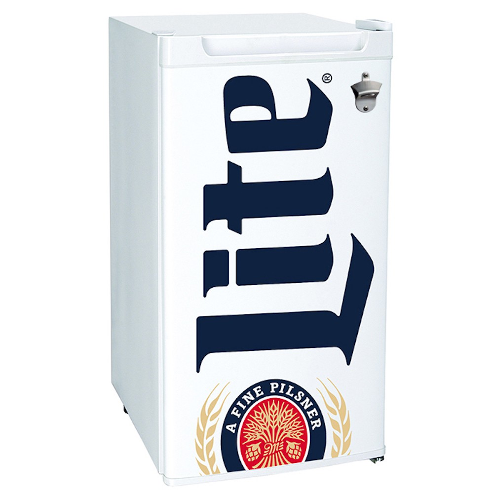 Miller Lite Bottle Opener Mini Fridge