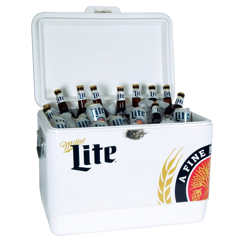 Miller Lite Stainless Steel Ice Chest Cooler
