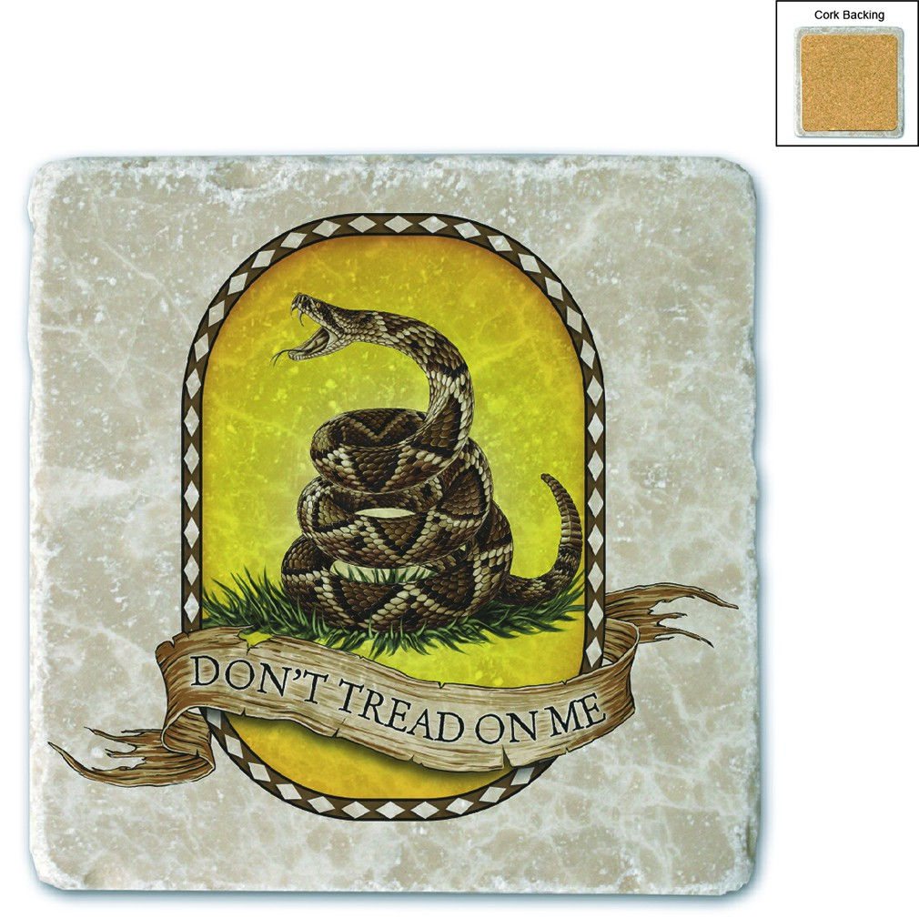 Don't Tread On Me Stone Coaster