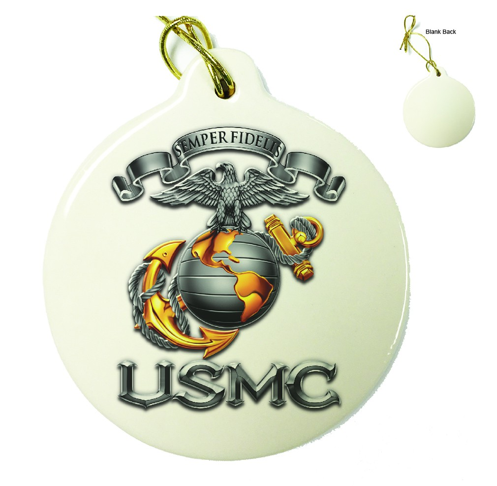 Marines USMC Semper Fidelis Porcelain Ornament