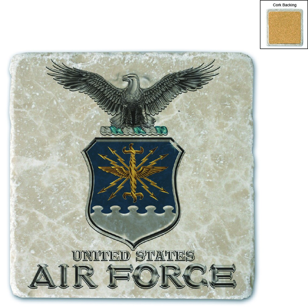 Air Force USAF Missile Stone Coaster