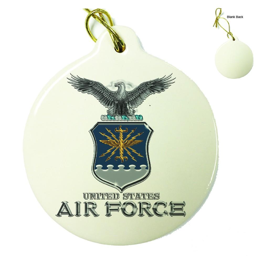 Air Force USAF Missile Porcelain Ornament