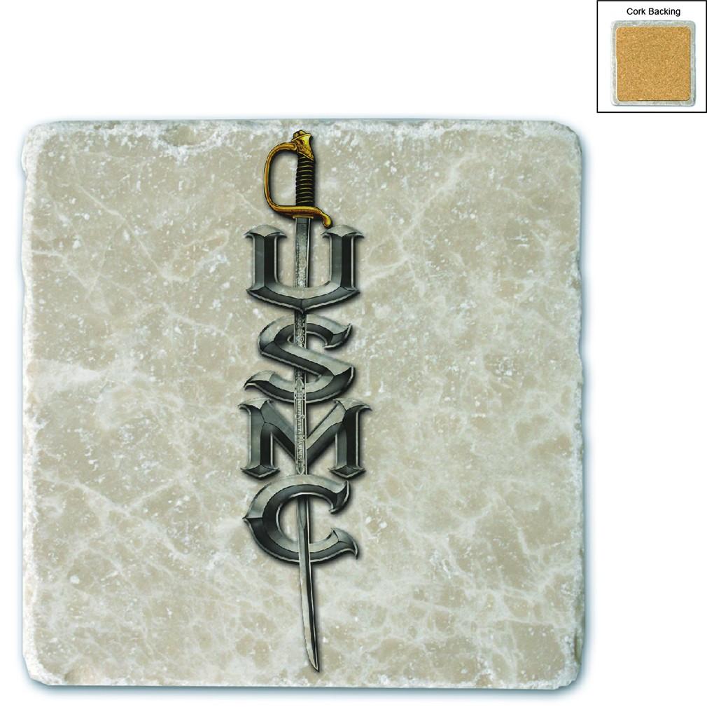 US Marines USMC Sword Stone Coaster