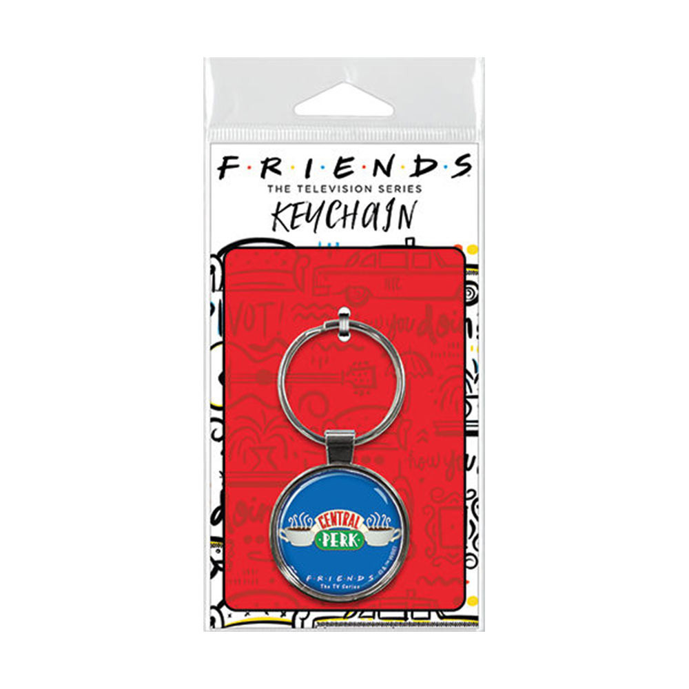 Friends Central Perk Blue Keychain