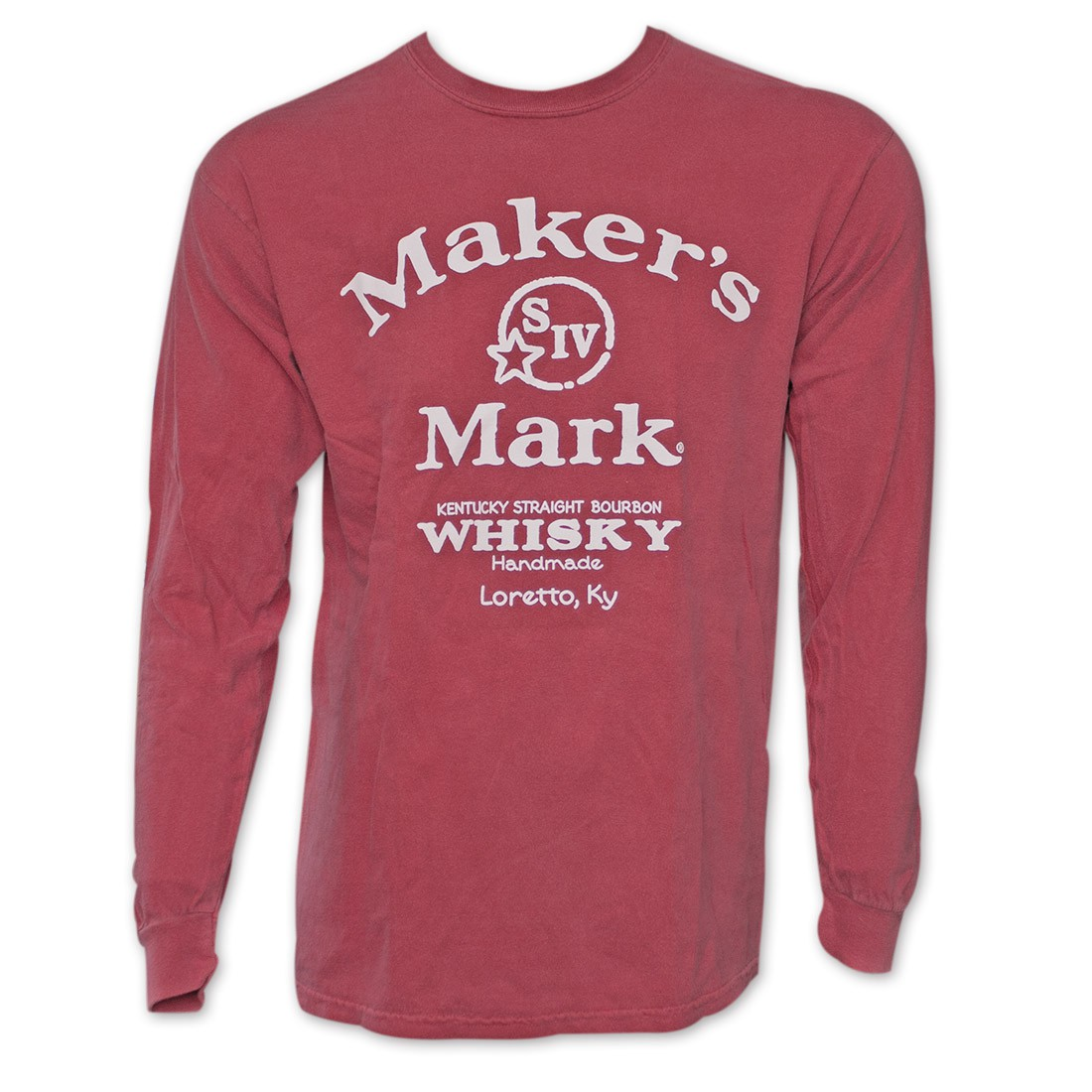 Maker's Mark Arched Logo Red Long Sleeve T-Shirt