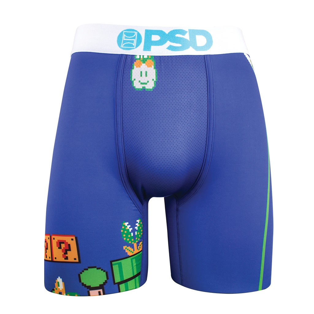 Super Mario Bros. Level Blue Men's Boxer Briefs