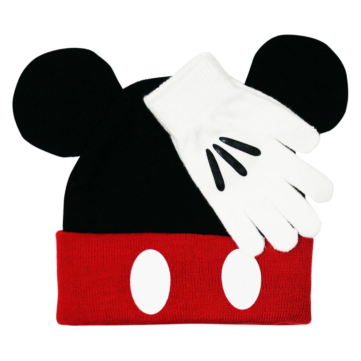 Mickey Mouse Black Hat And Glove Costume Combo