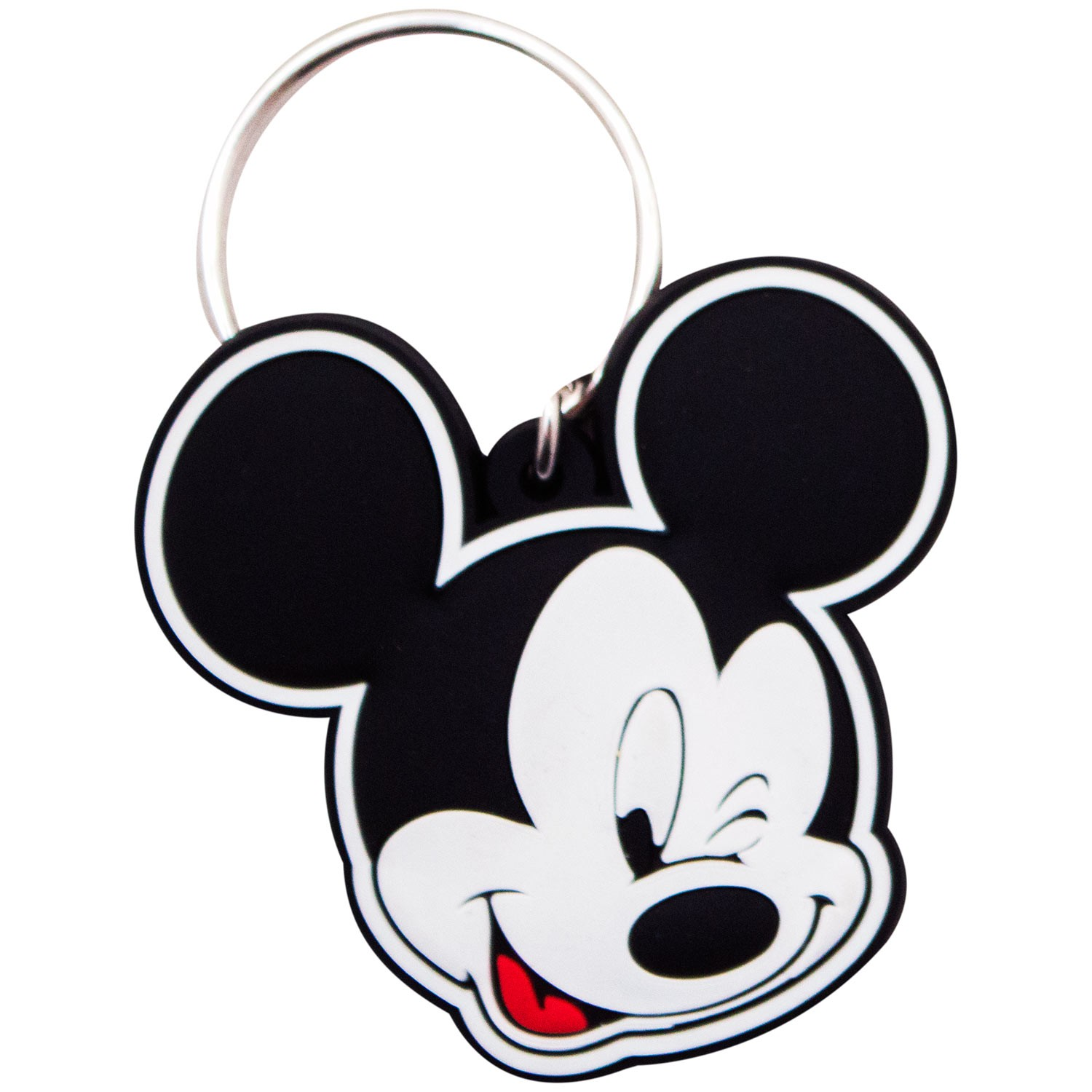 Mickey Mouse Winking Rubber Keychain