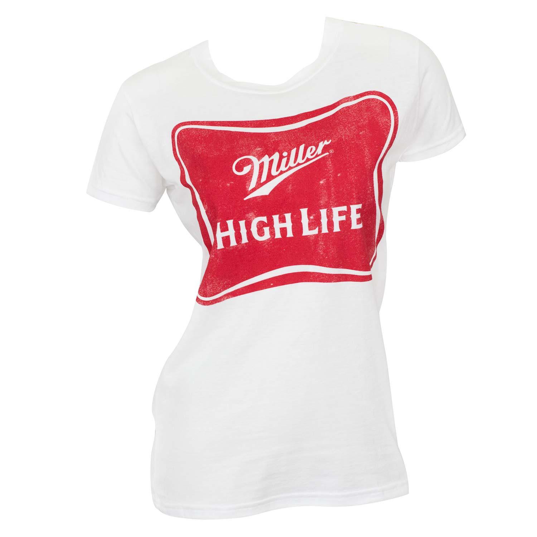 Miller High Life Women's White Tee Shirt