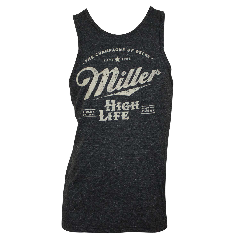 Miller High Life Distressed Logo Tank Top