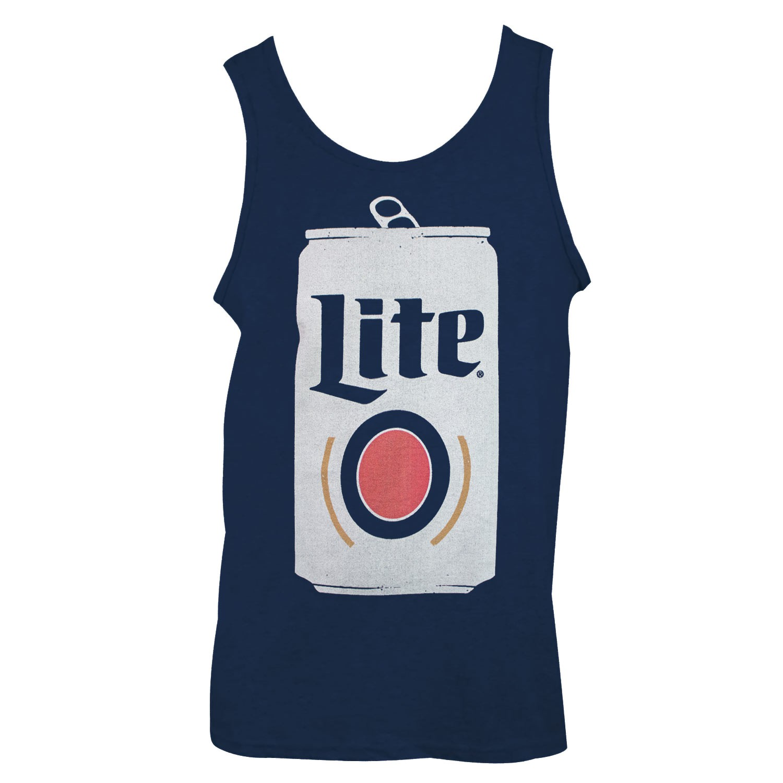 Miller Lite Can Design Men's Blue Tank Top