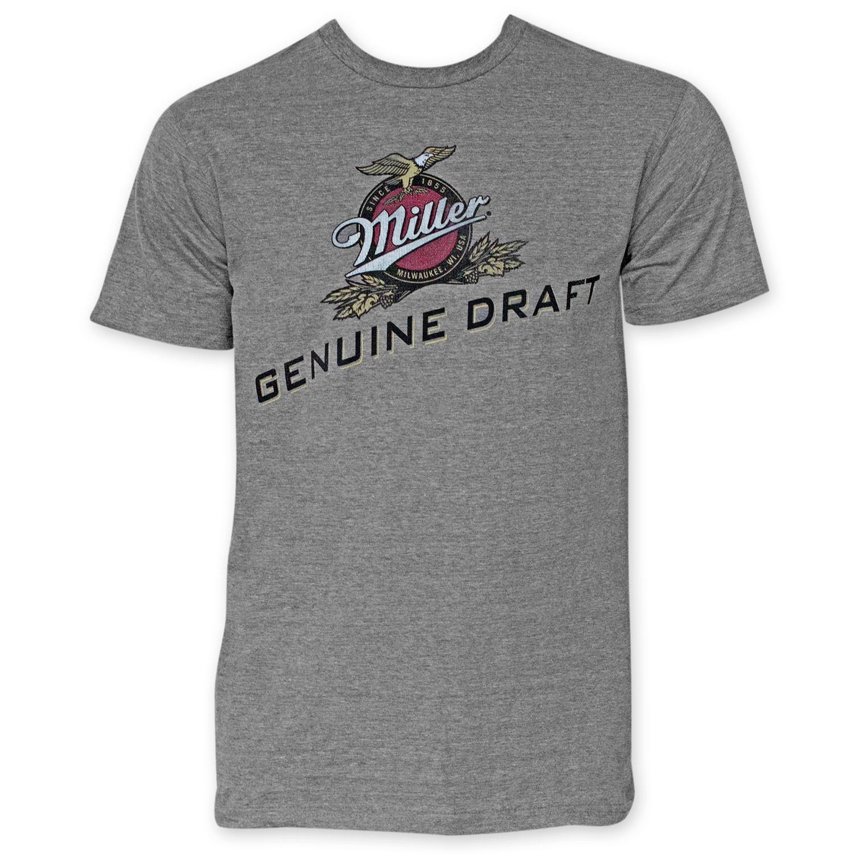 Miller Genuine Draft Men's Grey Tee Shirt