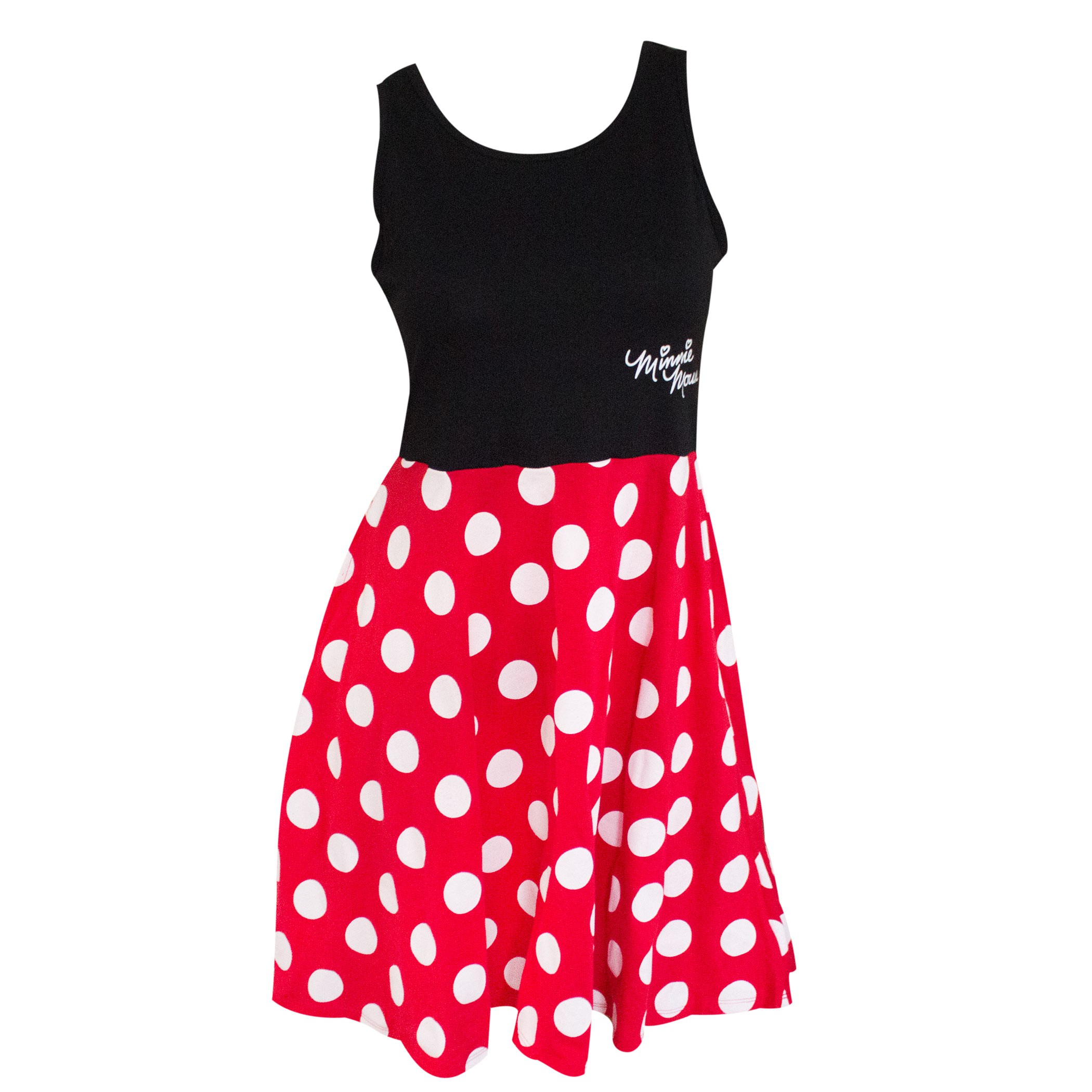 a3a76d1fbd7 Minnie Mouse Women's Black And Red Polka Dot Dress