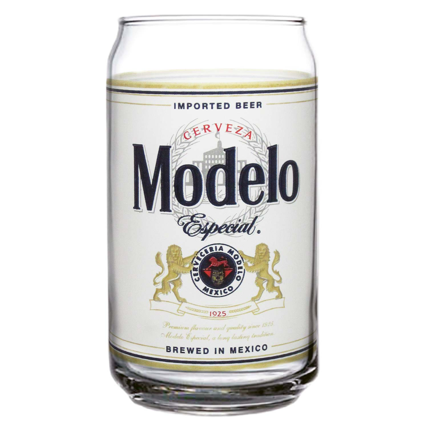 Modelo Especial Beer Can Pint Glass