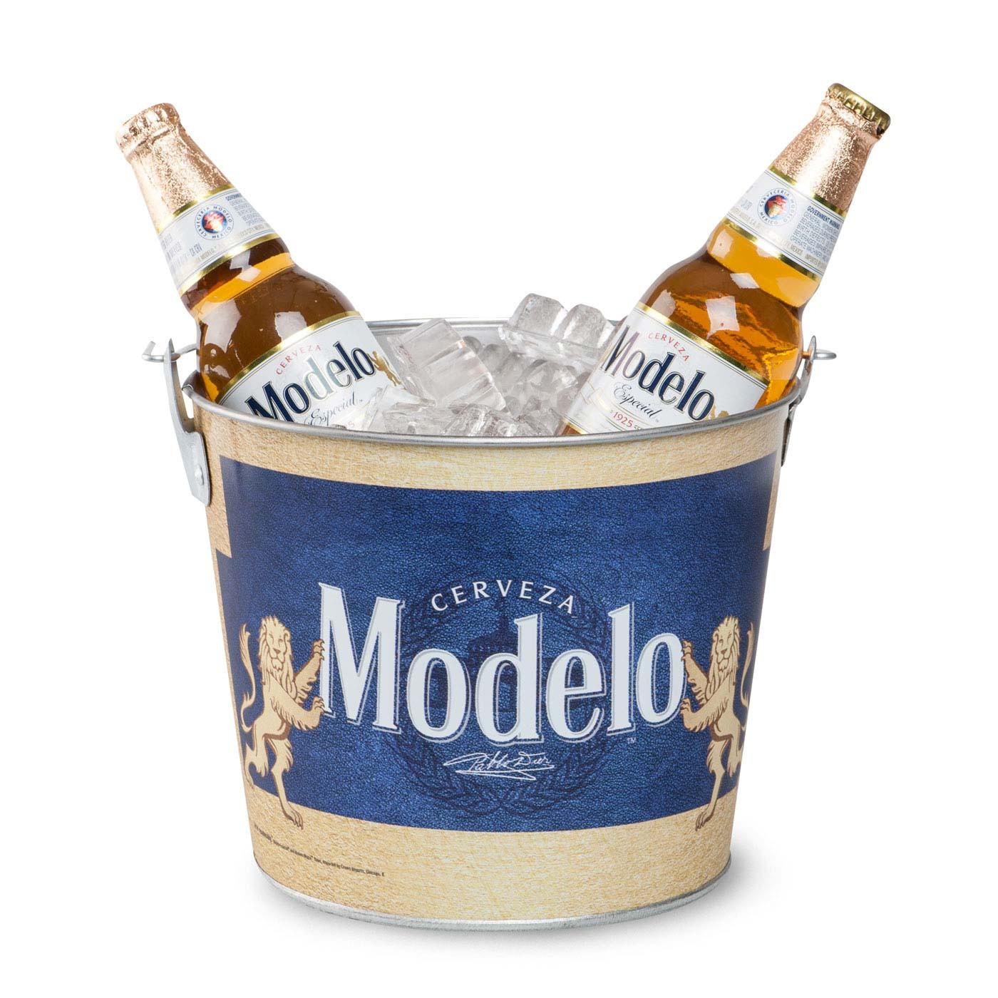 Modelo Beer Bucket With Built In Bottle Opener