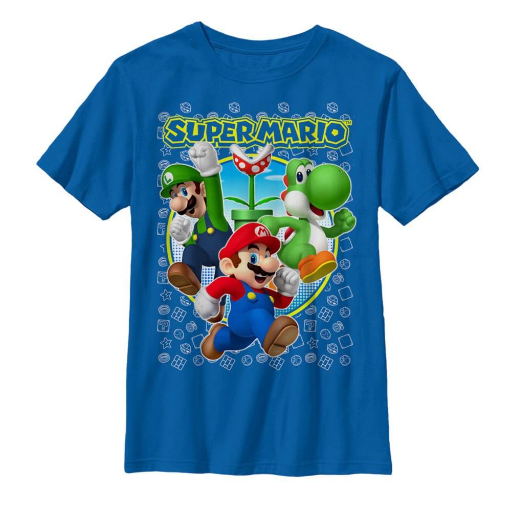 Super Mario Luigi Yoshi Youth Tshirt