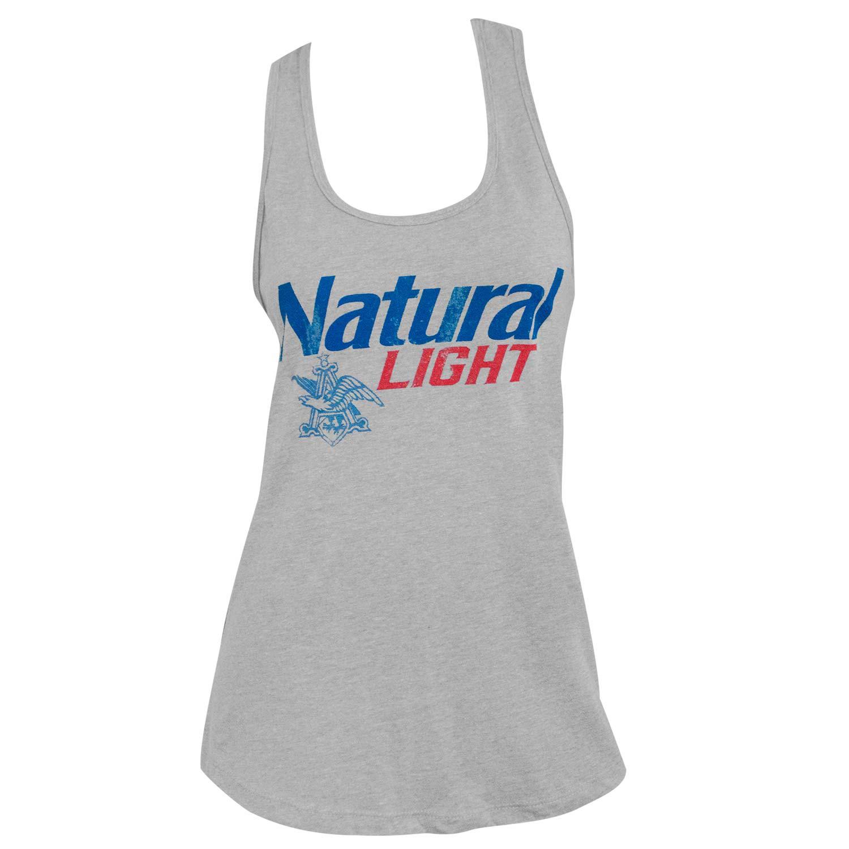 Natural Light Logo Racerback Women's Grey Tank Top