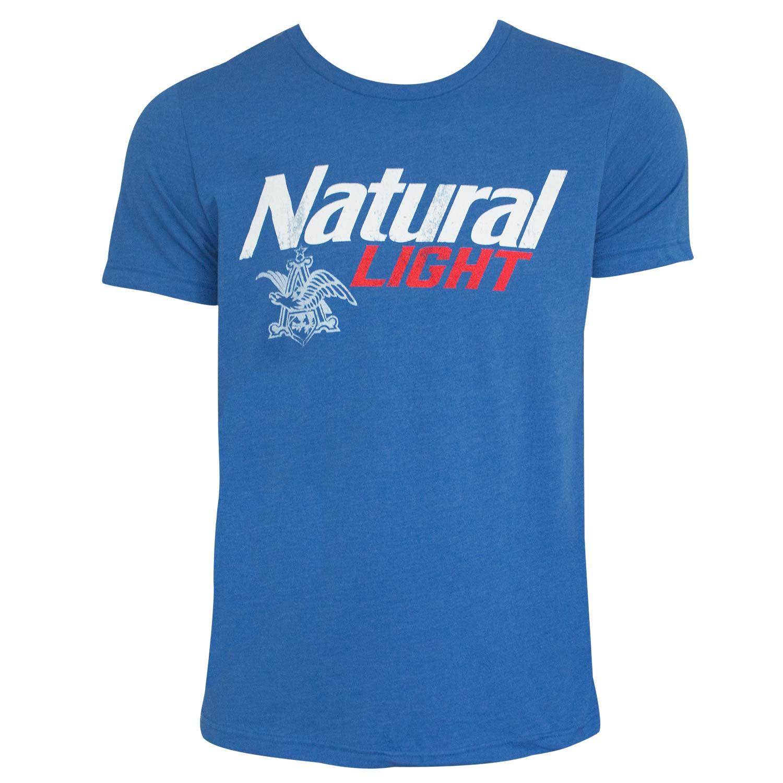 Natural Light Logo Men's Heather Blue T-Shirt