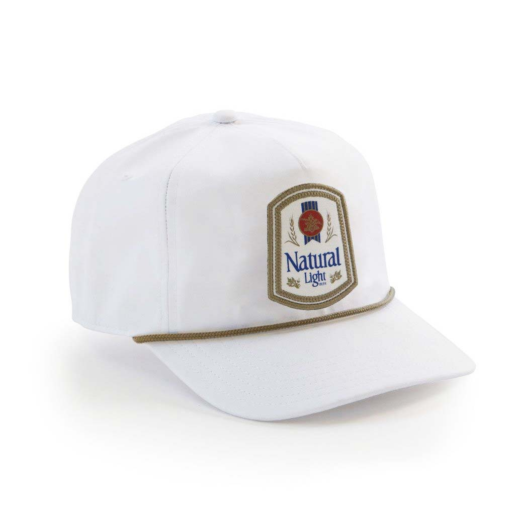 8bc87a5a0 Natty Light Rowdy Gentleman Vintage Logo White Snapback Hat